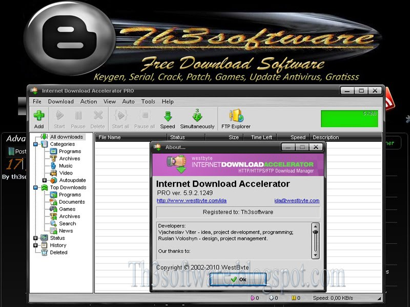 Internet Download Accelerator v.5.9.2.1249 + keygen