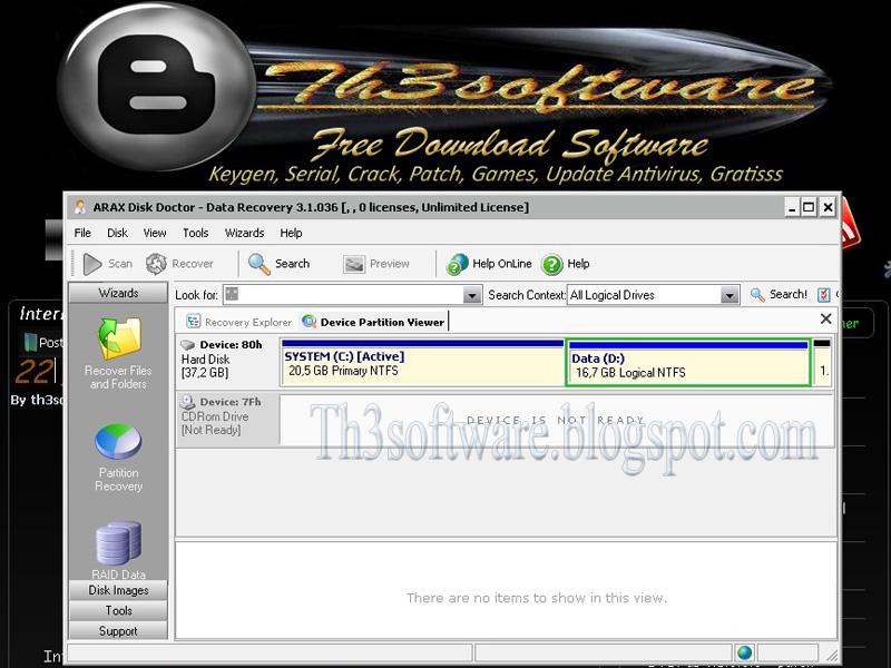 File system yang hilang pada komputer, baik itu hilang karena dihapus se