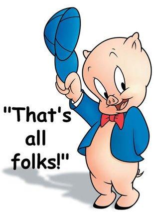 Porky Pig That's All Folks