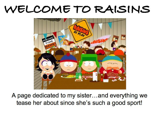 Welcome to Raisins