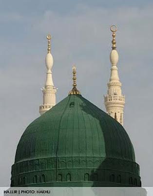 foto Kubur Di Kubah Masjid Nabawi, Madinah