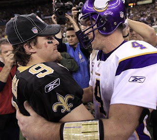 Brett Favre and Drew Brees