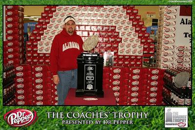 Alabama's BCS trophy in Walmart