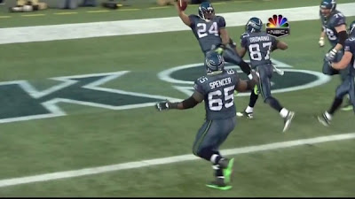 Marshawn Lynch grabs his nuts