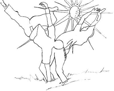 Desenho de capoeira para colorir e imprimir, desenho infantil, folclore
