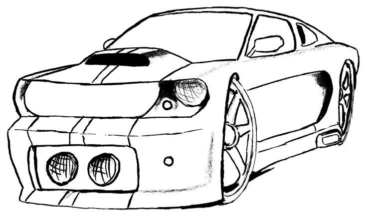 Dibujos de carros ferrari para colorear - Imagui