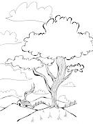 Desenho de natureza. Meio ambiente. IMPRIMIR