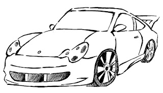 Carro esporte para colorir desenhos de carros. Desenho para colorir de carro