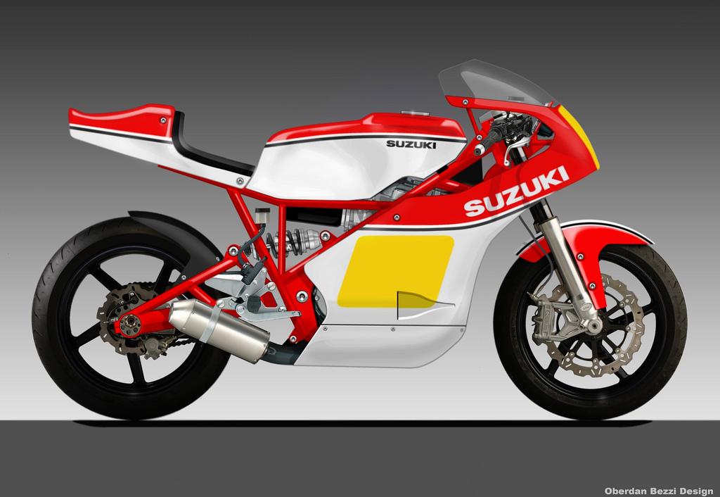 Concept/design/photomontage sur R  SUZUKI+500+TDS
