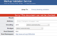 Net Gator blog's validation problem in w3 markup validation service