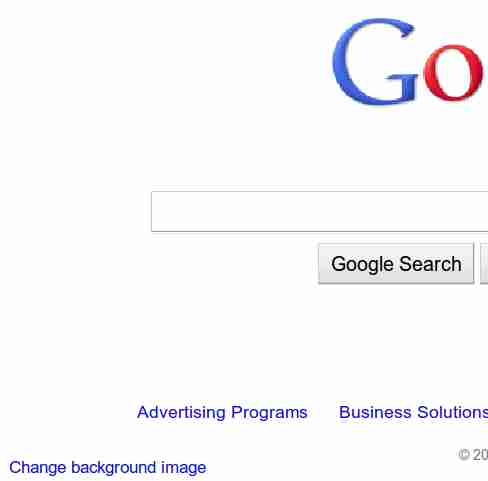 how to change the google homepage background