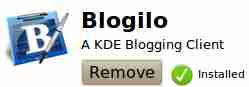 Blogilo KDE Linux weblog client