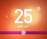 ubuntu linux countdown button