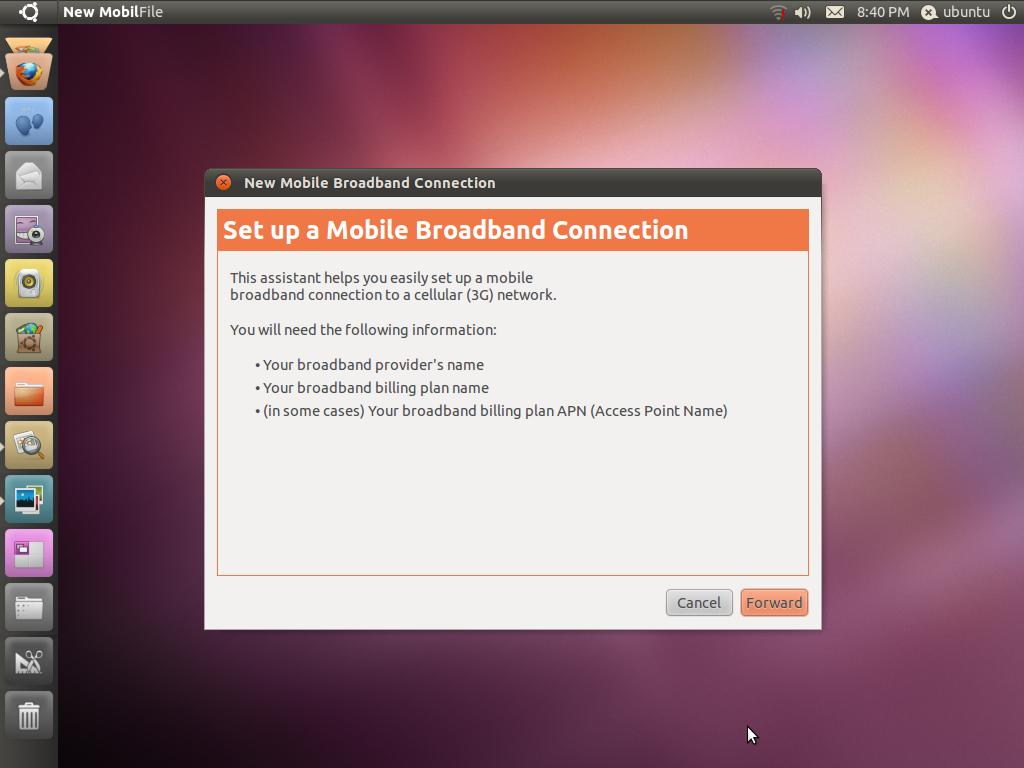 Virgin broad band on ubuntu