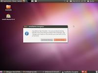 Ubuntu 10.10 Maverick Meerkat installation comple