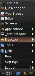 antiX main menu screenshot