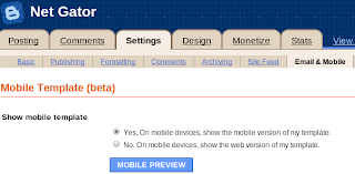 enable mobile view blospot blog from draft.blogger dashboard