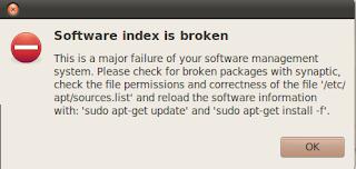 Software index is broken on Ubuntu