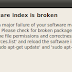 'Software index is broken' on Ubuntu [Solved]