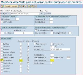 Control automático de crédito