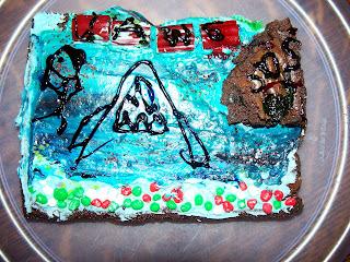 Jaws brownie by Katie