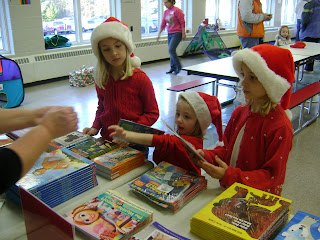 children selecting books
