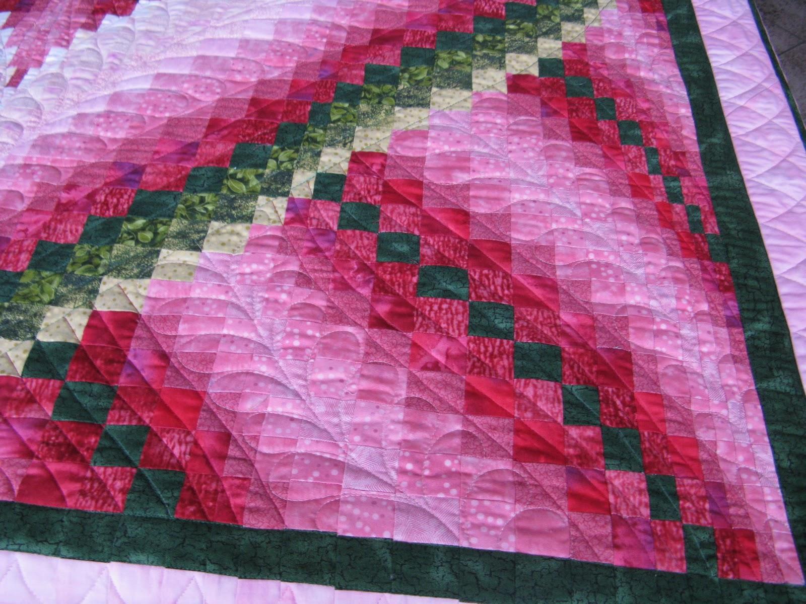 Country Garden Quiltworks Melinda S Heart Bargello Quilt