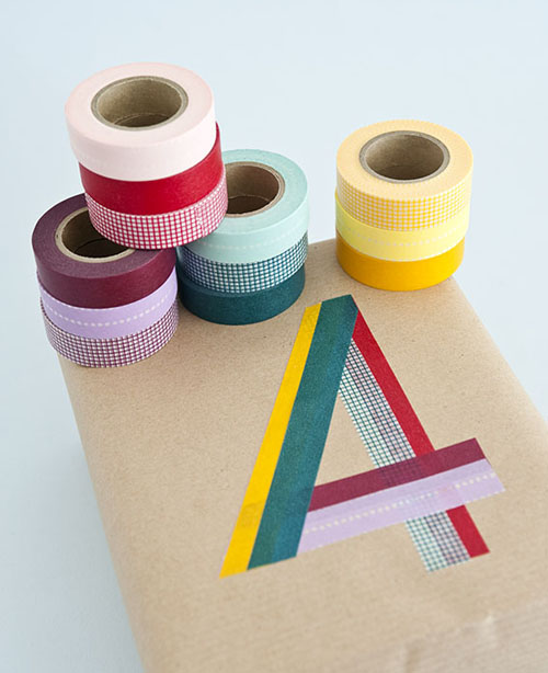 Tea for joy washi tape gift wrapping ideas - Que faire avec du masking tape ...