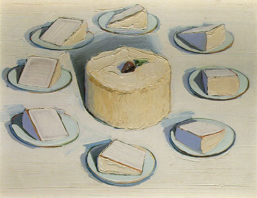 Around the Cake Wayne Thiebaud. Maybe its because I'm getting married soon