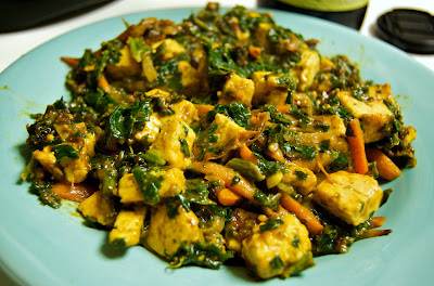 Recipe Stir-Fried Vegetables in a Peanut Butter Sauce with ...