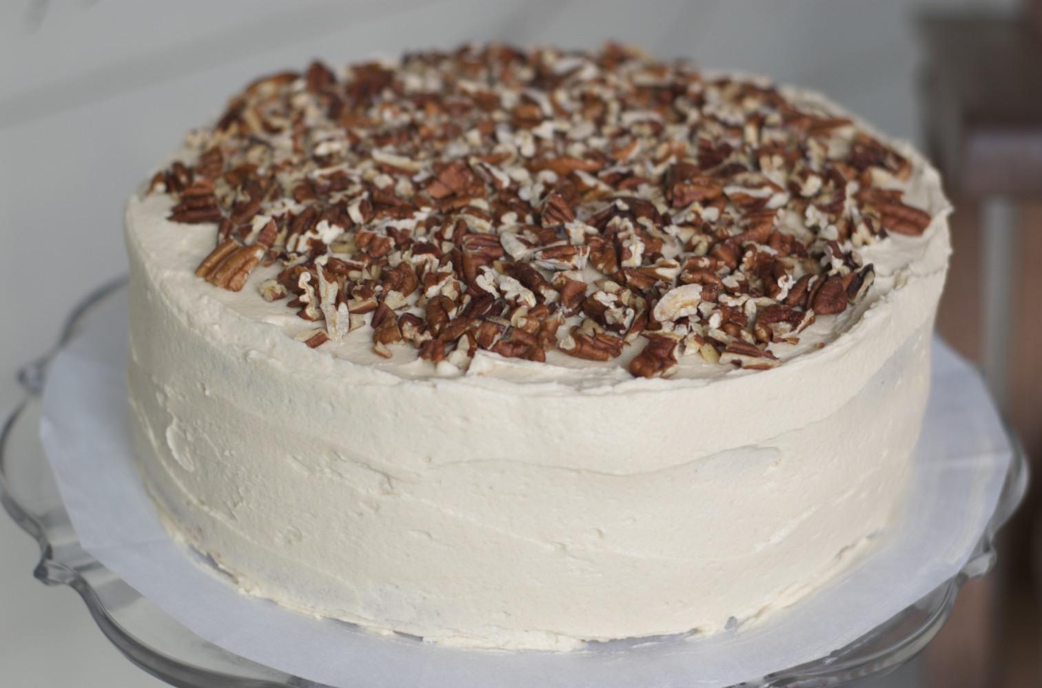 The Ginger Cook: Caramel Pecan Layer Cake