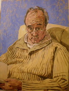 Original acrylic portrait of my dad
