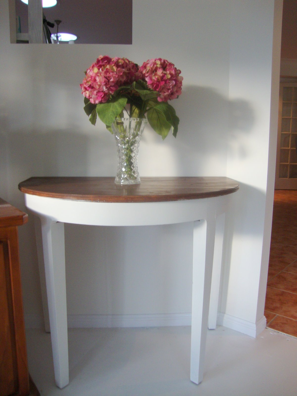 half table for hallway. I Love These Half Tables As They Look Great Up Against A Wall In Hallway Or Bedroom Desk Bedside Table. This Table Picked And Was Made For E