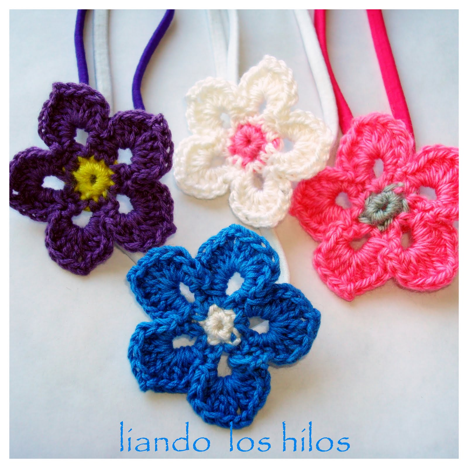 Diademas de Flores con Patrón | Liando Los Hilos