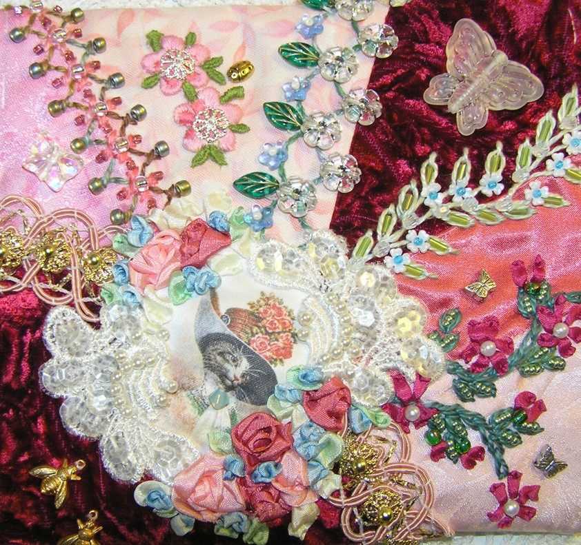 Crazy Quilt Pattern Images : Kitty And Me Designs: Crazy Quilting For Newbies - Resources