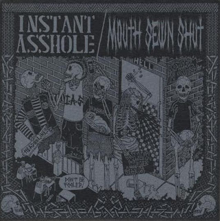 MOUTH SEWN SHUT & INSTANT ASSHOLE - SPLIT (2008)