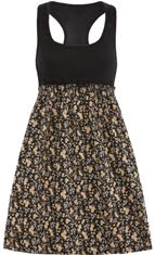 [black+floral+pretty+dress]