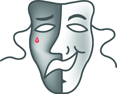 The comedy/tragedy mask is most commonly known as the drama mask or theater