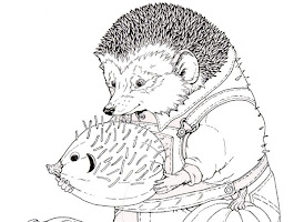 Hedgie Jan Brett Coloring Page