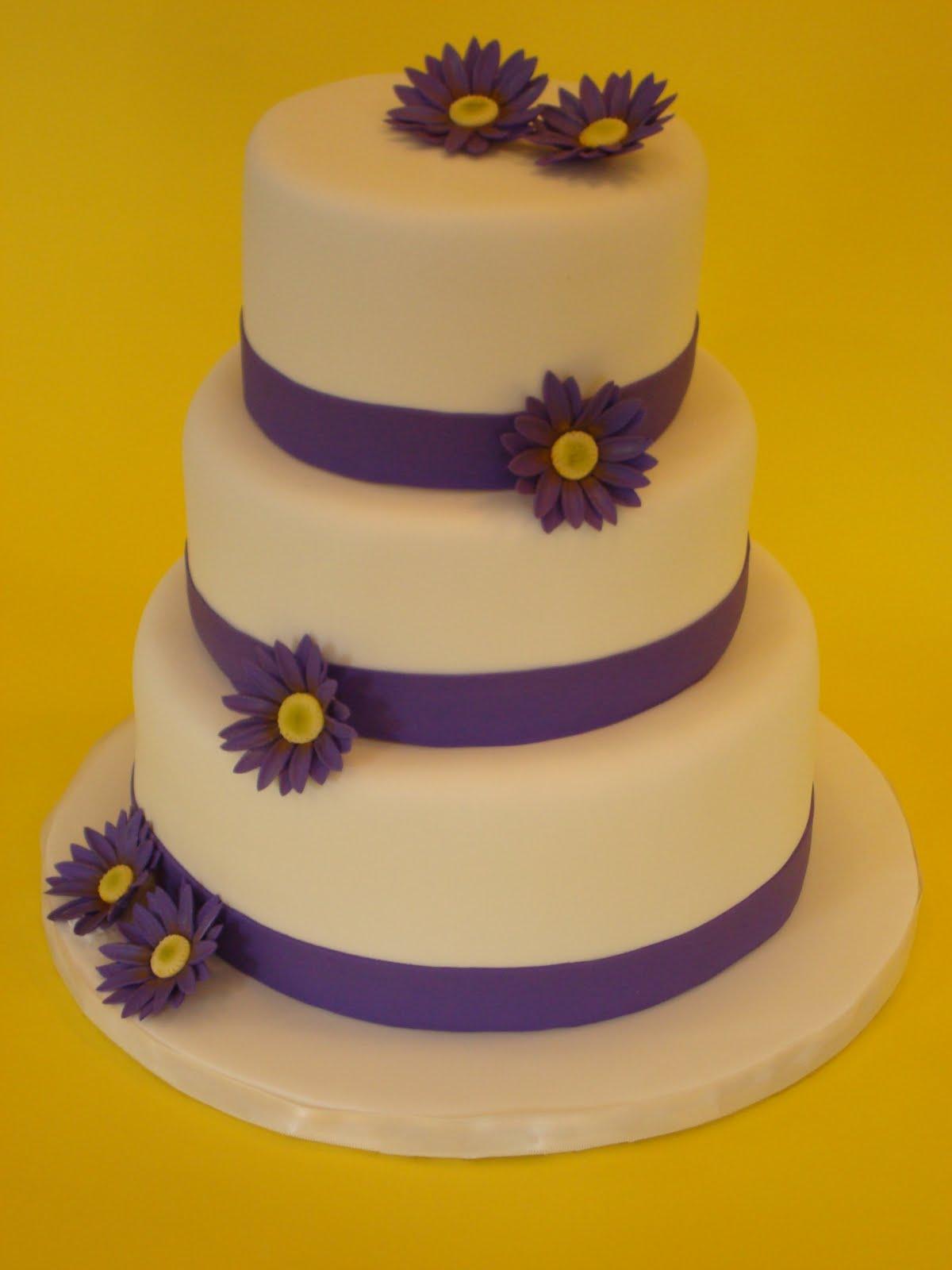 Sweet Grace, Cake Designs: Plum Daisy Wedding Cake