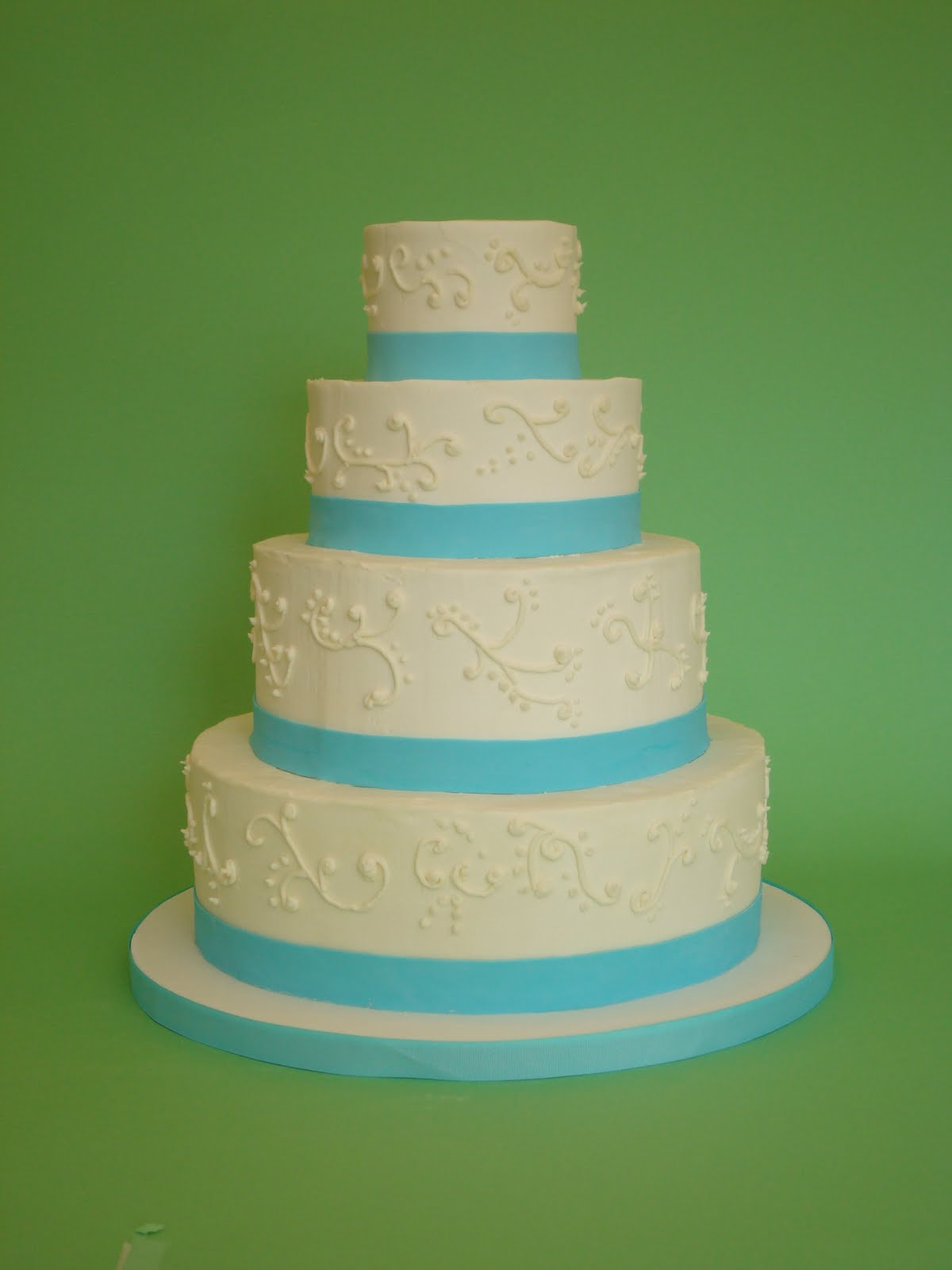 Simple White Buttercream Wedding Cake &