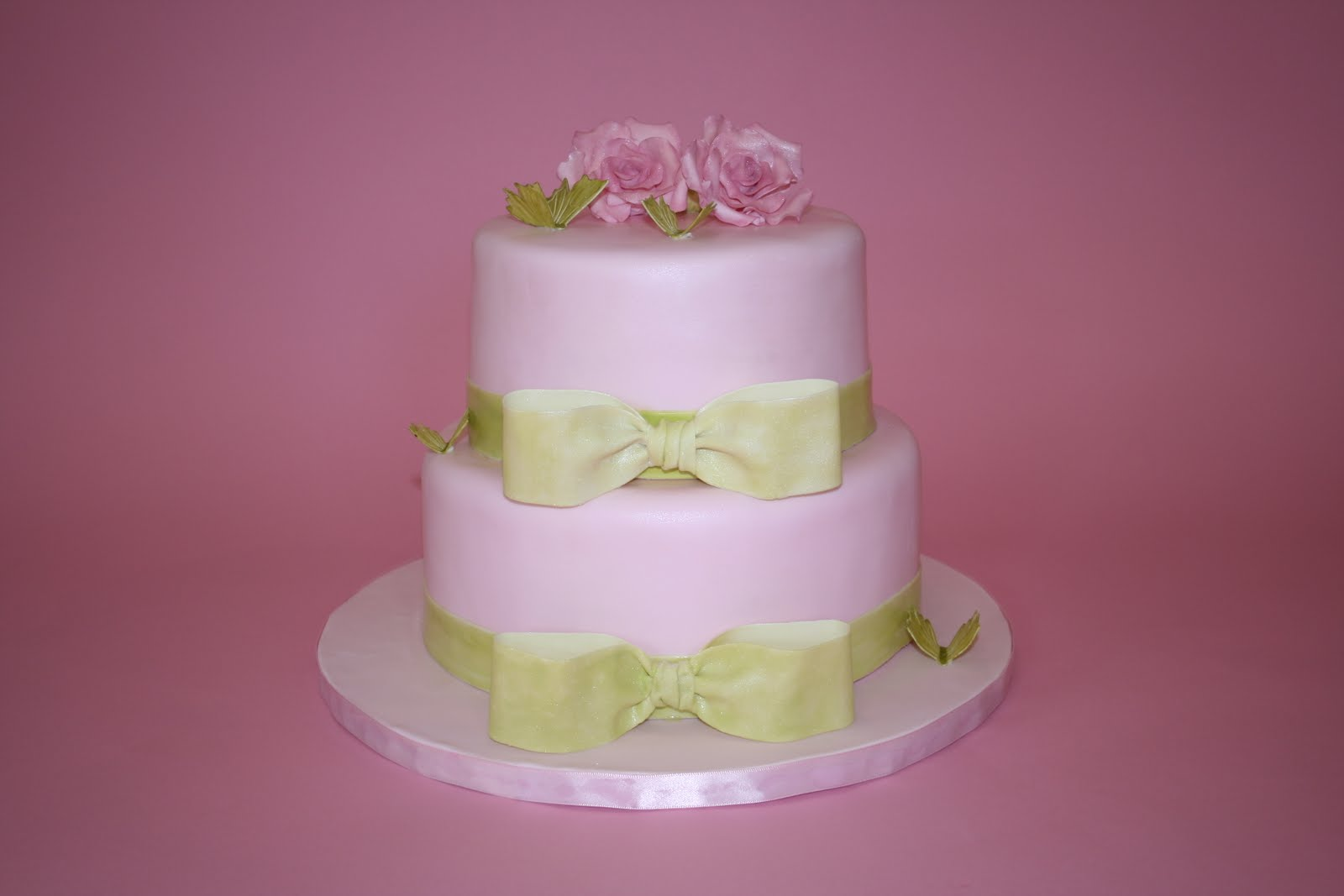 Sweet Grace, Cake Designs: Pink and Green Bridal Shower Cake