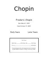 Title and Info for Chopin Envie Study