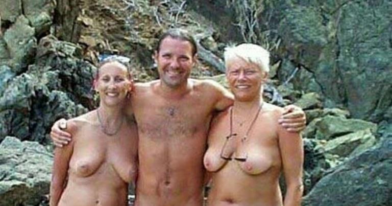 två kvinnor och en man