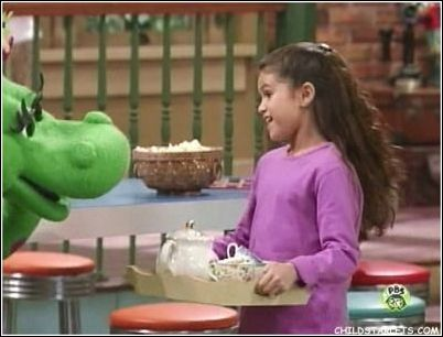 selena gomez on barney. Selena is definitely the frontman of the band as the