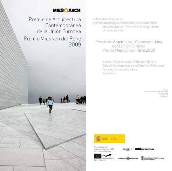 M2ds architects blog expo premio mies van der rohe 2009 - Premio mies van der rohe ...