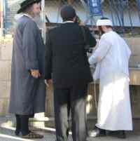 Members of the Sanhedrin ascend the temple mount