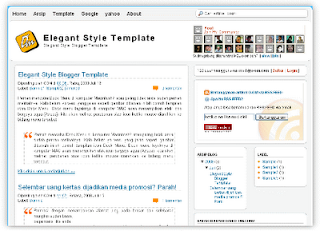 New Blogger Template Elegant Style dan SEO Friendly