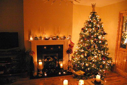 especial para la Navidad  Fotos de decoracion de Interiores de Casas