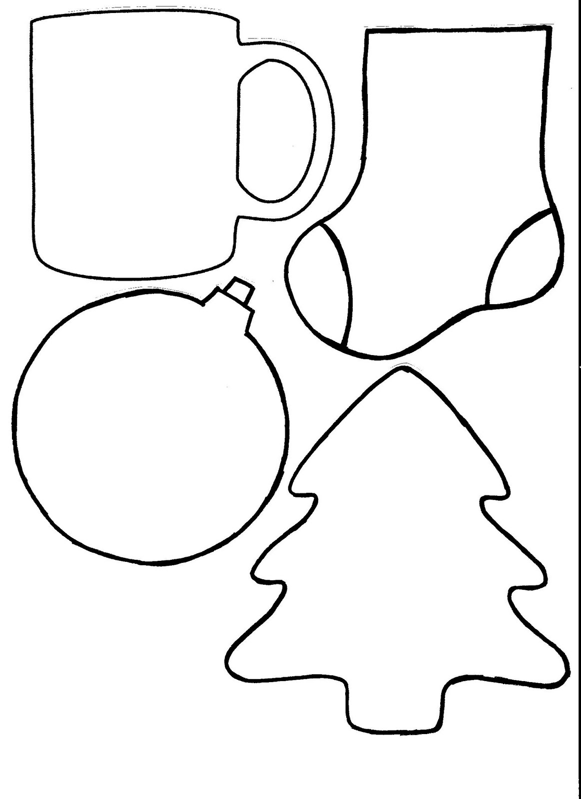 Clean image intended for printable ornament templates
